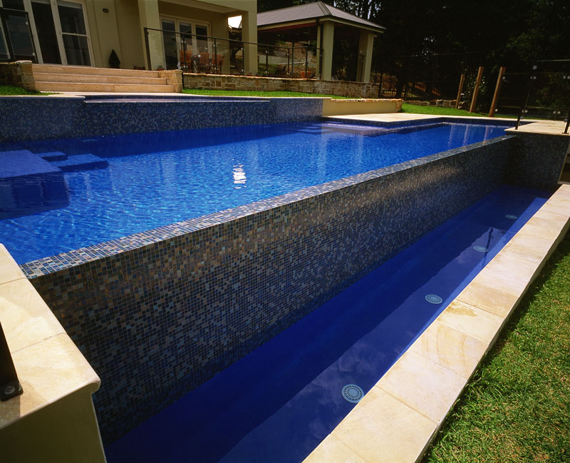 Infinity Edge Swimming Pool Blue Haven Pools