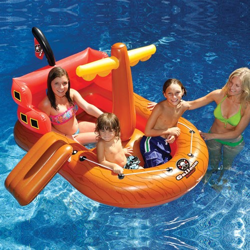 SwimSportz Galleon Rider Pirate Ship