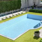 Inground Pool Sydney with green poolside area