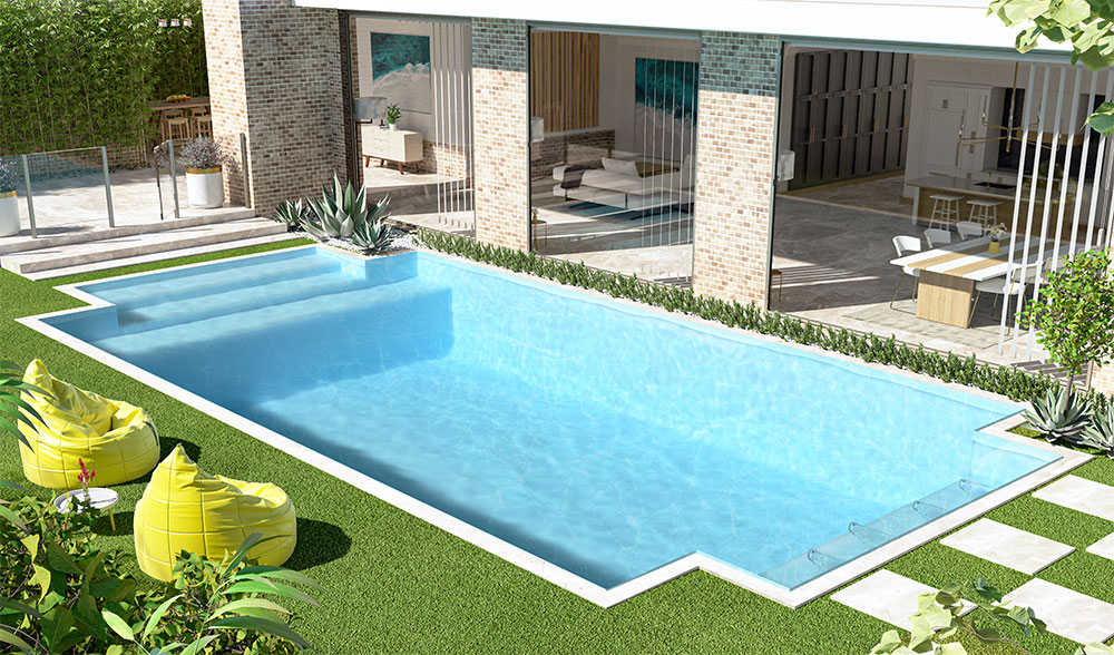 Inground Concrete Pool with stairs