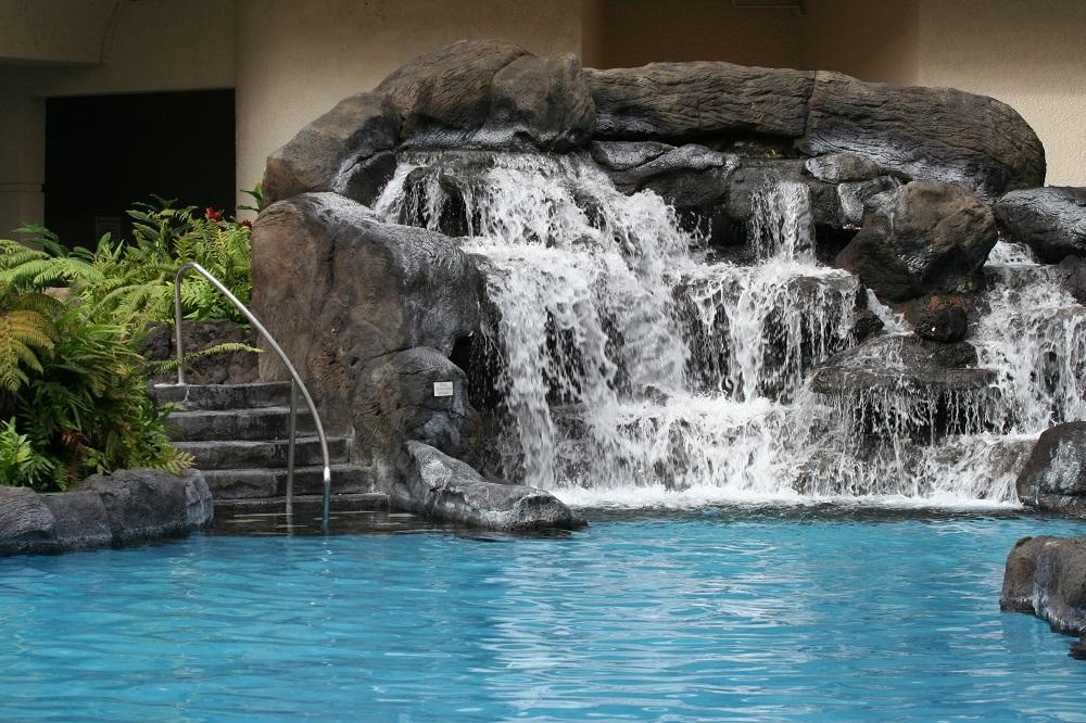 Swimming Pool Lava Rock Waterfall