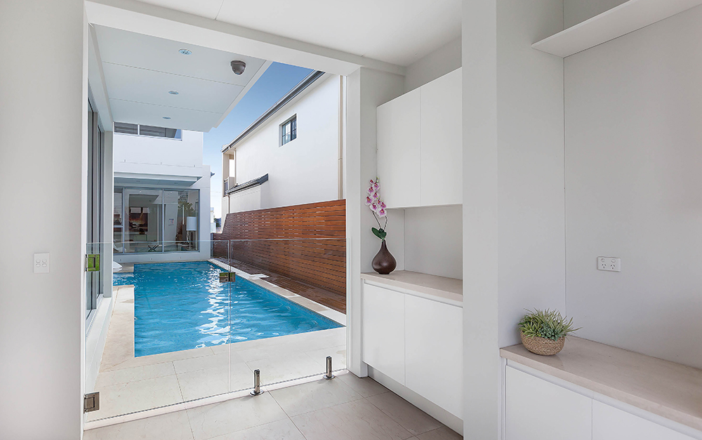 Right view of Lap Pool in South Hurstville constructed by Blue Haven Pools