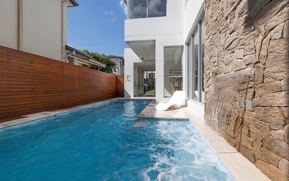 Left view of Lap Pool in South Hurstville constructed by Blue Haven Pools