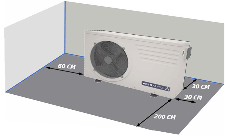 clearance for heat pumps