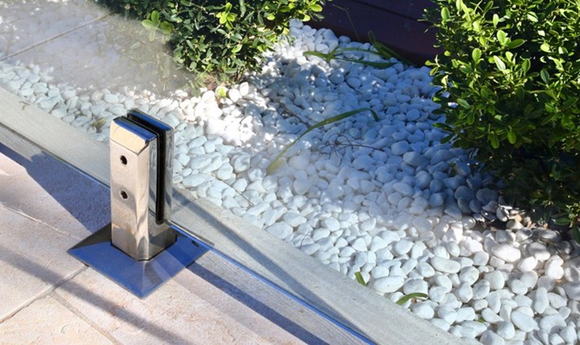 spigot with glass panel